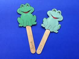 storytime abc u0027s craft little green frog puppet