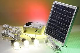 solar powered led lighting system 3 led bulbs 10w solar panel
