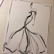 sketch of the day red organza and chiffon gown sketch prints and