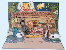 kerst jezus geboren pop up kaart voor kleuters kleuteridee