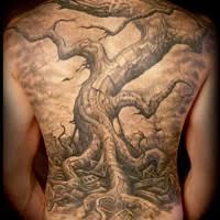 great dead tree on back tattooimages biz