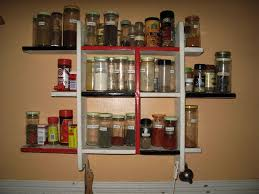 Wood Wall Mount Spice Rack Wonderful Wall Hanging Spice Racks Bring Tidy Look In Your House