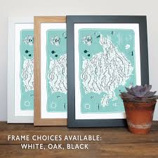 Norfolk County Wall Map Framed Isle Of Anglesey County Map Print U2013 Tabitha Mary
