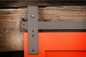 how to put a sliding barn door hardware back on track
