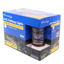 malibu celestial led pathway lights antique brass finish for an aged look malibu 6 pack pathway lights