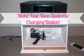 electronic charging station diy electronic charging station organize 365