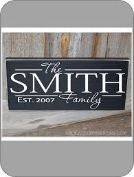 personalized family name with year established vinyl lettering