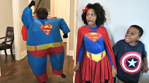 fat kid halloween costume fat superman vs supergirl shasha and shiloh fat sumo onyx kids