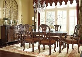 Traditional Dining Room Table San Marino Traditional Pedestal Dining Room