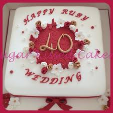 ruby wedding cakes 6 40th anniversary cakes frosting photo 40th wedding anniversary
