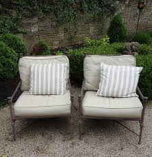 Outdoor Lounge Chair Restoration Hardware Catalina Cast Metal Patio Lounge Chairs Ebth