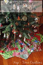 christmas tree skirt free pattern life sew savory
