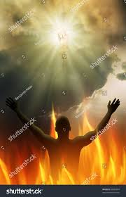 jesus christ on cross bright light stock illustration 88983694