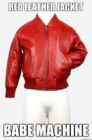 Meme Jacket - red leather jacket memes quickmeme