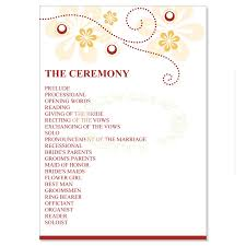traditional wedding program wording yellow orange wedding program templates do it
