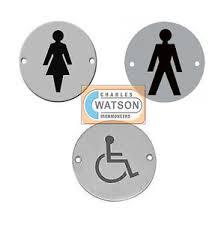 Male Female Bathroom Signs by 75mm 3