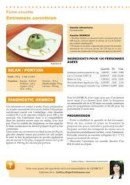 recette cuisine collective recette gemrcn entremets corinthien vici solutions