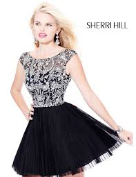 2013 sherri hill 2814 black homecoming dresses sherri hill