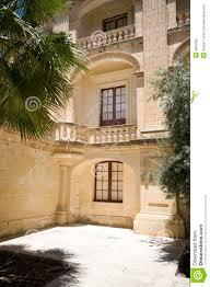 Interior Courtyard Interior Courtyard Vilhena Palace Mdina Malta Royalty Free Stock