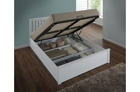 birlea phoenix 4ft small double white ottoman lift wooden bed