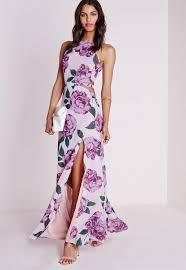 floral maxi dress chiffon maxi dress pink floral missguided