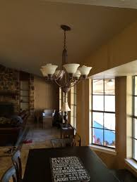 Hanging A Ceiling Light Mounting A Large Light Fixture To Sloped Ceiling Or Bad Idea