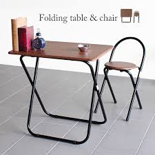 Folding Table And Chair Sets Atom Style Rakuten Global Market Folding Desk Chair