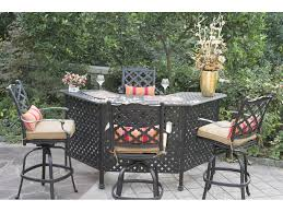 fabulous outdoor patio bar sets darlee outdoor living camino cast