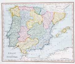Portugal Spain Map by Map Of Spain And Portugal 1825