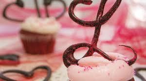 monogram cupcake toppers how to make chocolate monogram cupcake toppers diy crafts