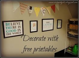 orchard girls thrifty thursday decorating with free printables