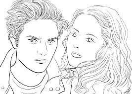 Malvorlagen Stars  Twilight  Edward und Bella 1