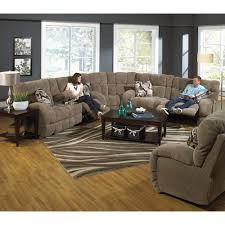 catnapper bryce reclining sectional sofa with cup holders efo