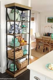 Display Dishes In China Cabinet Using An Etagere Shelf For Kitchen Storage U0026 Display The Happy