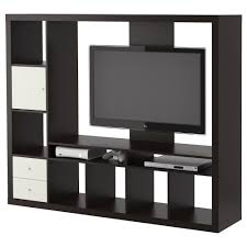 square black shelving units with white wooden drawers and
