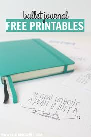 2017 bullet journal free printables bullet journaling