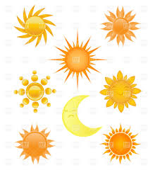 sun and moon collection of different designs royalty free vector