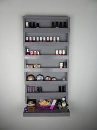 makeup storage makeup rack display images storage wall brown