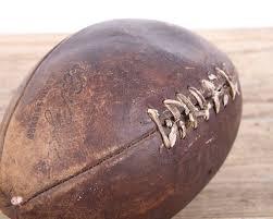 Nfl Home Decor Vintage Leather Football Football Decor Old Football Wilson