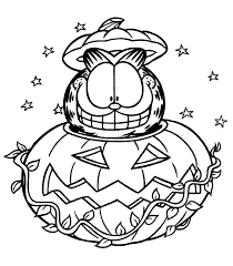 free halloween color pages garfield halloween coloring pages for kids printable free 1624