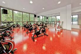 polyurethane coated sports flooring for indoor use for