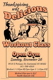 thanksgiving was delicious workout class and open out