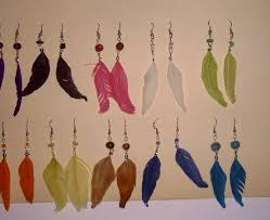 how to make feather earrings with feather earrings the fashion foot