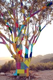 yarn bomb about to explode in the mountains