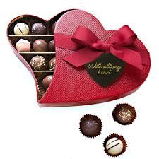 heart box of chocolates box chocolate truffles heart box 175g