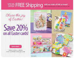 current catalog save 20 on easter greeting cards and get free