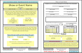 dfwcraftshows vendor applications part iii the template