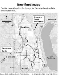 seattle flood map city remaps 2 flood prone areas the seattle times