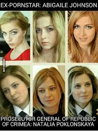 Natalia Poklonskaya Meme - ex pornstar abigaile johnson prosecutor general of republic of
