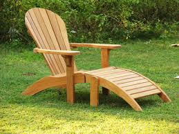 Adirondack Chair With Ottoman Teak Adirondack Chair Teak Outdoor Furniture From Benchsmith